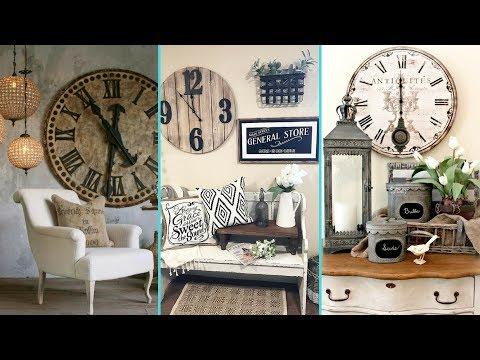 ❤ DIY Rustic Shabby chic style Wall Clock decor Ideas ❤ | Home decor Ideas | Flamingo Mango|