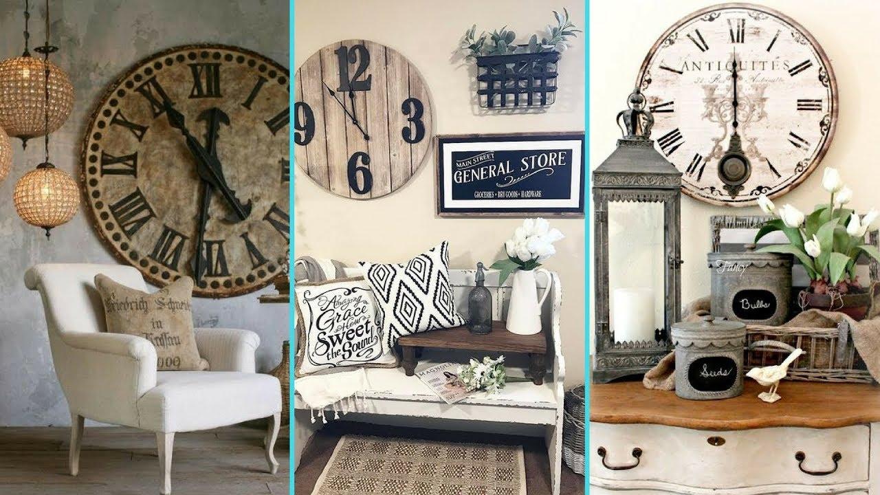 Diy Rustic Shabby Chic Style Wall Clock Decor Ideas Home