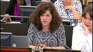 Sofía Castañón en la Comisión de Igualdad el 17 de mayo