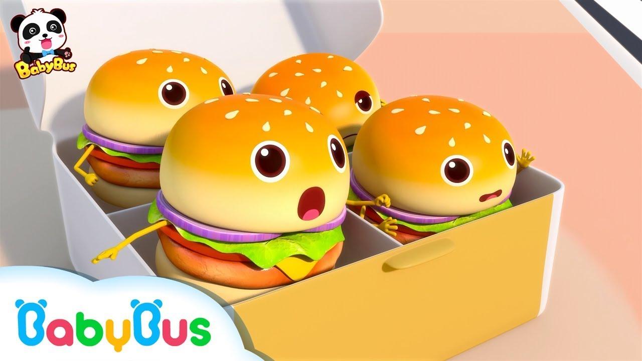Câu chuyện thú vị của những chiếc Hamburger   Tuyển tập bài hát Hamburger   Nhạc thiếu nhi   BabyBus