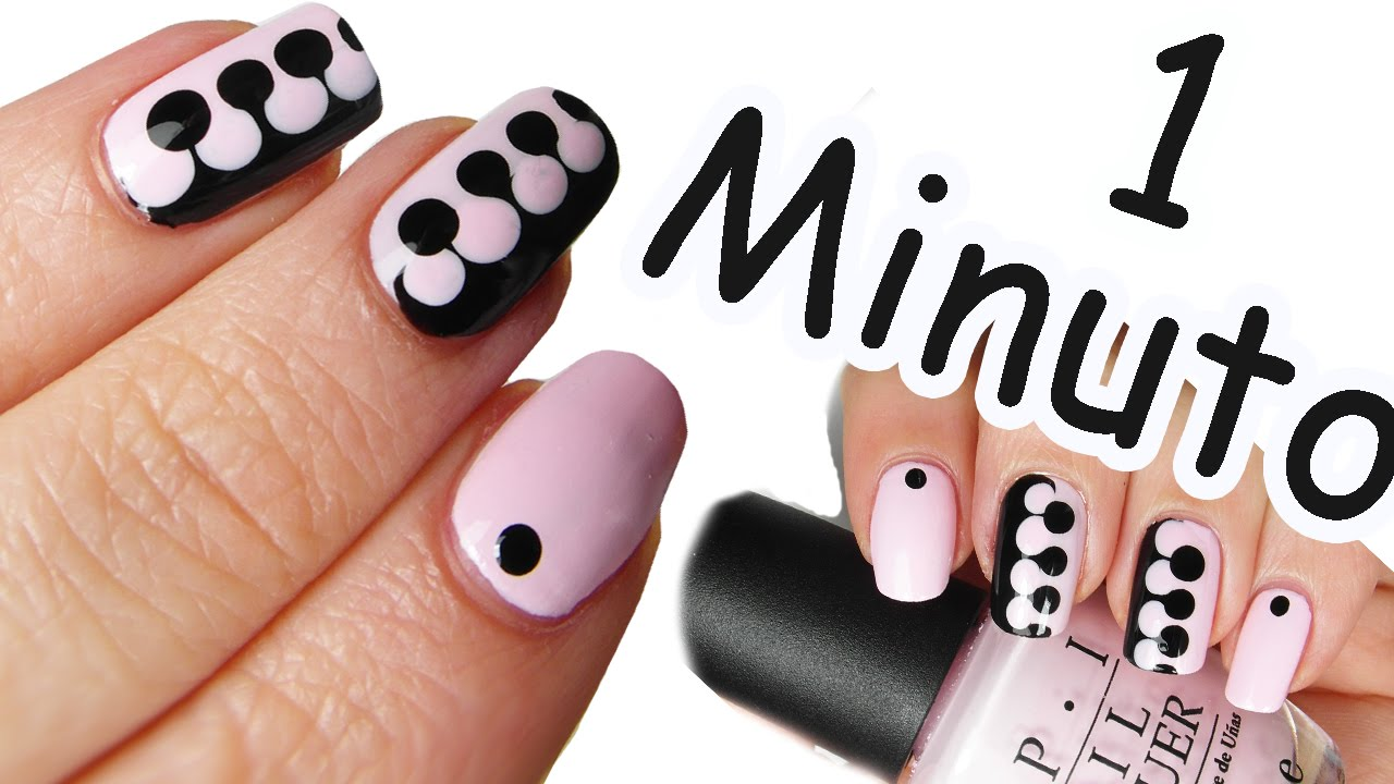 Nail art tutorial puzzle in 1 minuto 6 youtube prinsesfo Image collections