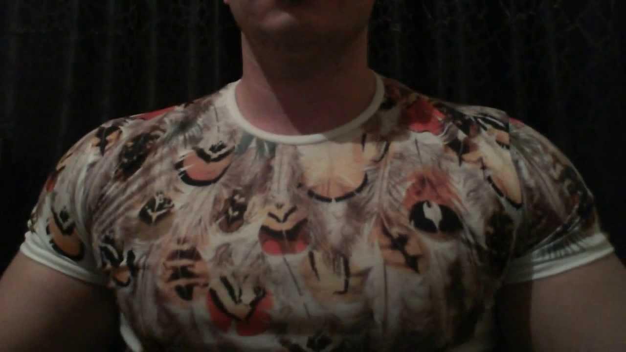 45341607 Gabriel MuscleDominus-pec bouncing under tight t shirt - YouTube