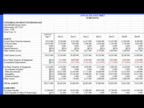 Financial Information and Analyst Reports