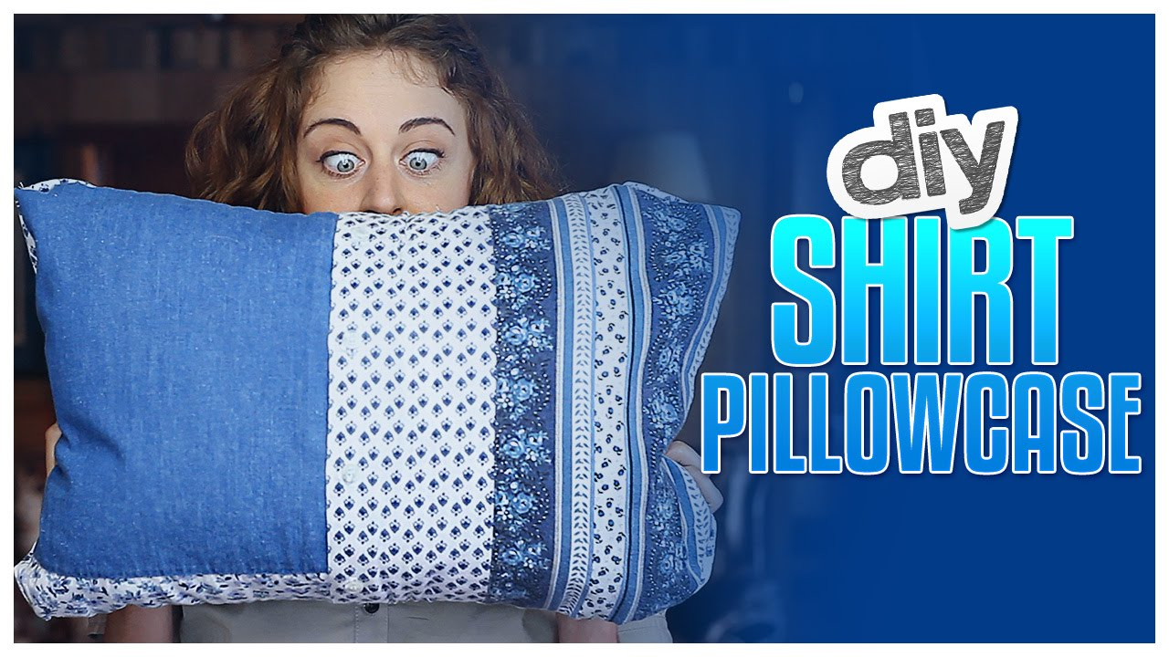 DIY Button-Down Shirt Pillowcase - Do It Gurl