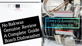 Bosch Dishwasher Detailed Review  | Installation | Demo | Cleaning Test | Settings | In Hindi