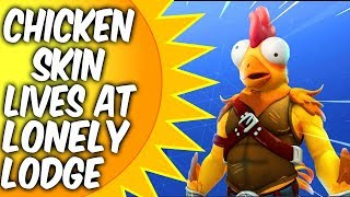 Fortnite chicken skin. Lives at Lonely Lodge - TENDER DEFENDER