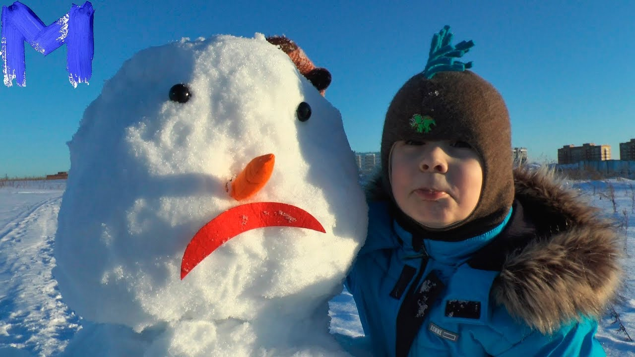 Макс и его Снеговик - Лепим снеговика - Развлечения для детей и родителей