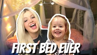 GETTING MY DAUGHTER HER FIRST BED! (co-sleeping to sleeping in a big girl bed)