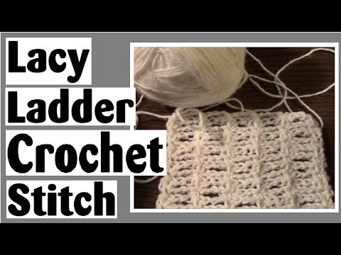 Lacy Ladder Crochet Stitch Tutorial – Learn How to Crochet with Darlene