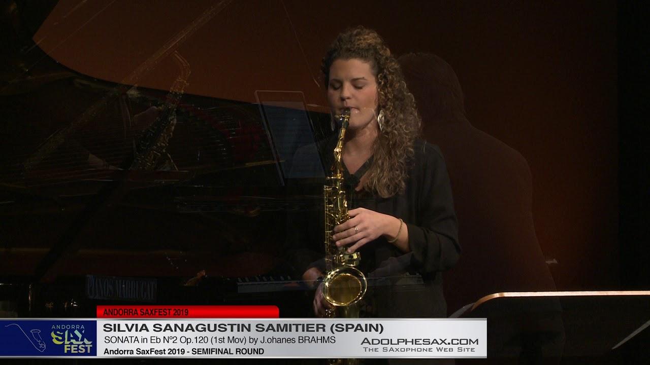 Andorra SaxFest 2019 Semifinal - Silvia San Agustin Samitier - Sonata in Eb Nº2 by J  Brahms