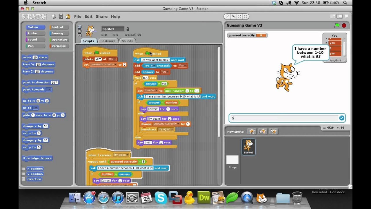How to make a Guessing Game in Scratch- Scratch Series ...