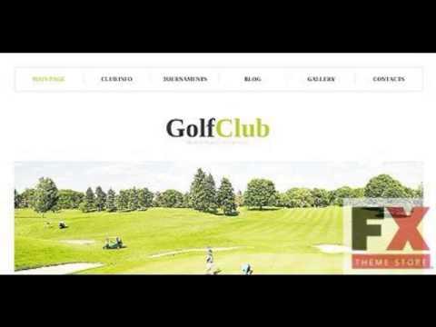 Preview White Golf WordPress Theme by Elza WordPress TMT - YouTube
