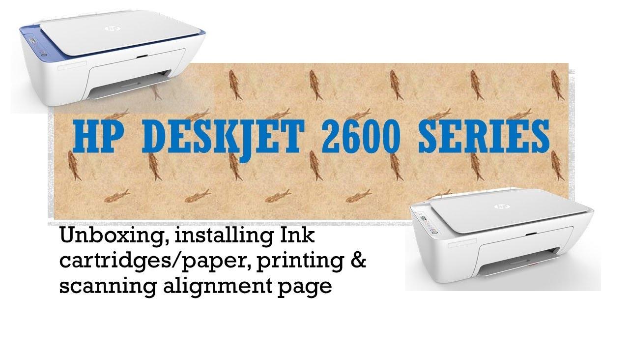 HP Deskjet 2652 & 2655: Unboxing & installing cartridges ...
