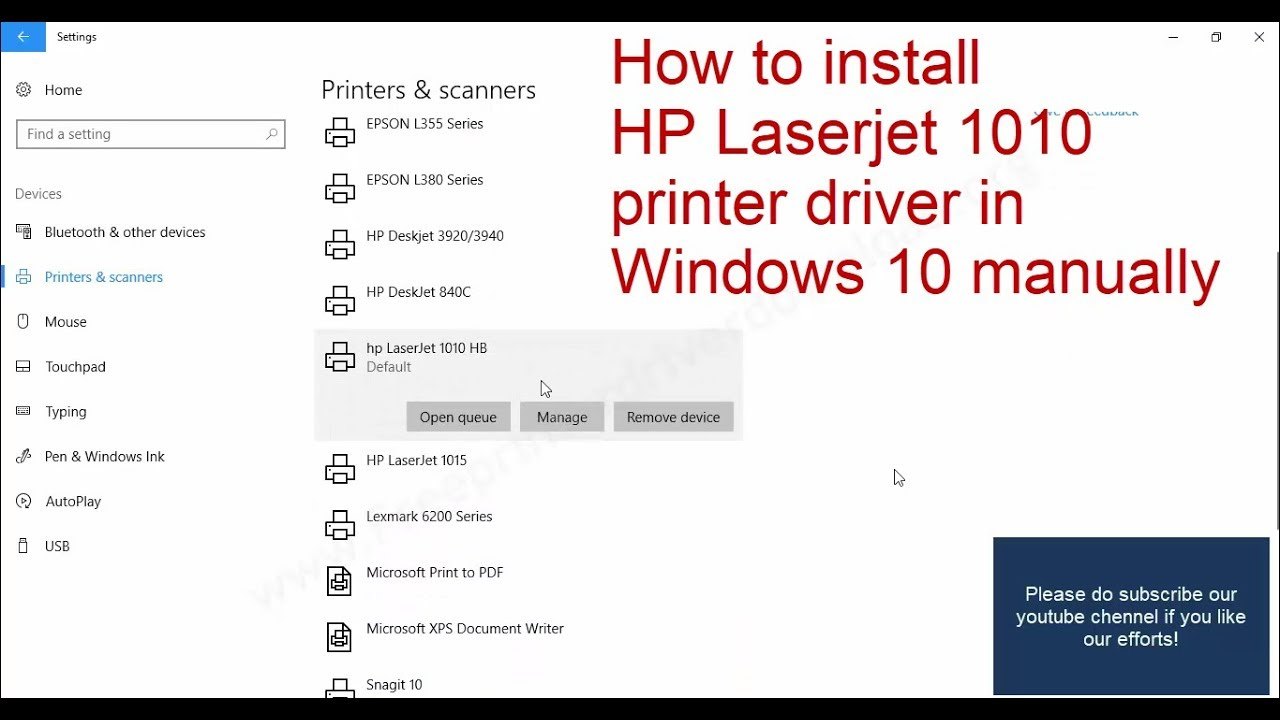 HP LaserJet 1010 Printer series Manuals | HP® Customer Support