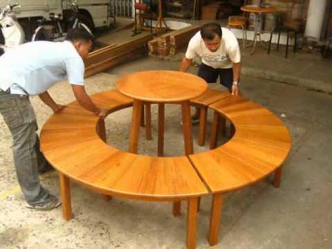 ตัวอย่างเก้าอี้ โต๊ะ @ ร้านบ้านไม้