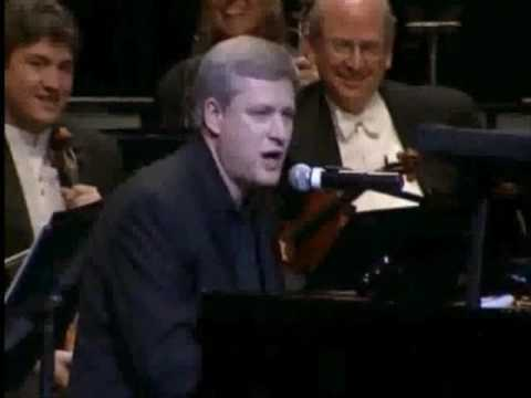 Stephen Harper performs at the National Arts Centre gala