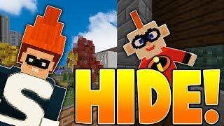 The Incredibles 2 HIDE & SEEK! - Minecraft Mods with LogDotZip Prestonplayz MooseCraft