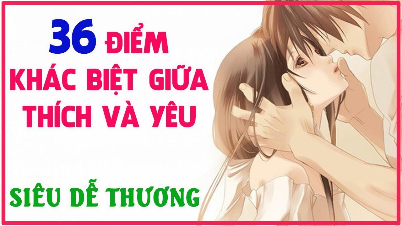 36 Điểm khác biệt giữa Thích và Yêu siêu dễ thương! | Blog HCD ✔