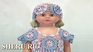 Детские летние платье и шапочки Урок 72 часть 2 из 5