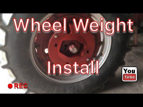 IH 986 Wheel Weight Install
