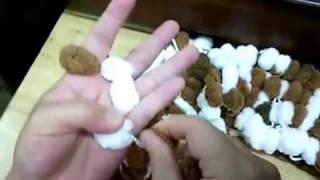 Repeat youtube video ผ้าพันคอไหมพรมปอมปอม นิตติ้งนิ้วมือ (Finger Knit Scarf)