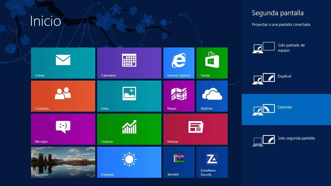 Windows 8 tips trucos secretos 22 usar dos pantallas for Escritorio para computadora