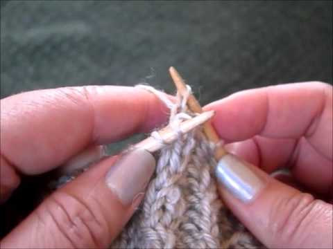 Small cable crosses on the needle (without a cable needle or loose stitches)
