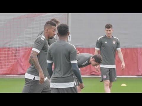 El Bayern se prepara para su encuentro ante el Sevilla