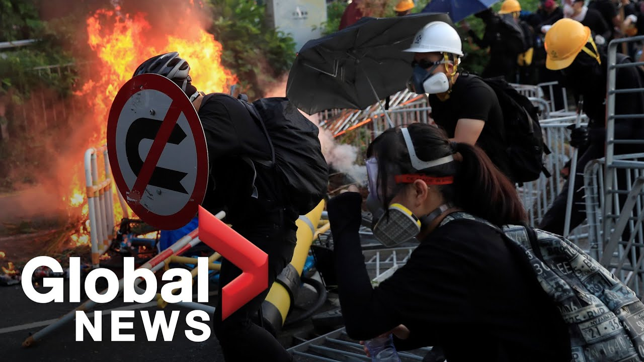Hong Kong protester shot as police disperse anti-China protests on National Day