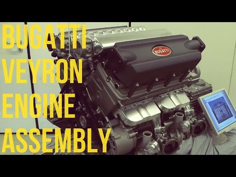 See How Bugatti Assembles the Mighty Veyron's W-16 Engine—By Hand