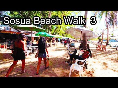 Sosua Beach Walk 3 (bars and restaurants) - Dominican Republic 2017 4K