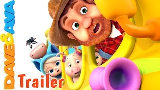 🤗 The Wheels on the Bus - Part 3 - Trailer | Nursery Rhymes and Kids Songs from Dave and Ava 🤗
