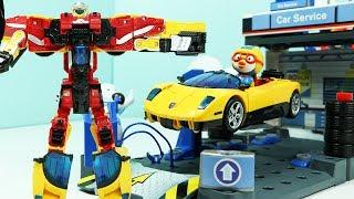 헬로카봇 컨버스터 자동차 변신로봇 장난감놀이 뽀로로 로보트 친구들 Hello Carbot Transformation Robot Car Toy Play