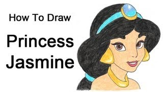 How to Draw Princess Jasmine (Aladdin)