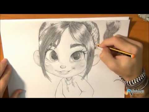 Disegna Vanellope Von Schweetz Di Sugar Rush Youtube
