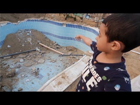 ردة فعل آسر وسامر على المسبح المكسر Youtube
