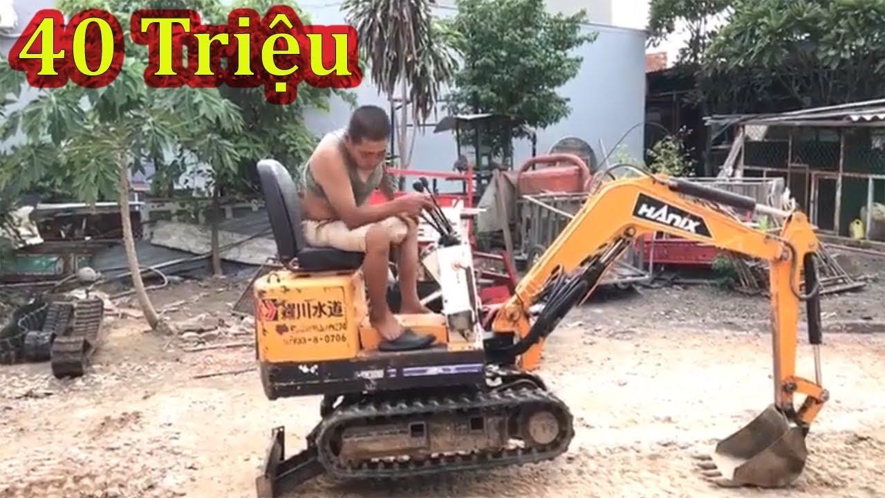 Mini Excavator   40 Triệu Cho 1 Con Máy Xúc Mini Chân Thụt Thò Được   Xuân Mạnh Vlogs