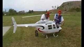 heli ab 206  jet ranger riprod. ei-cus rc turbine