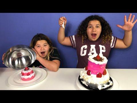 SQUISHY FOOD VS REAL FOOD CHALLENGE 2!!