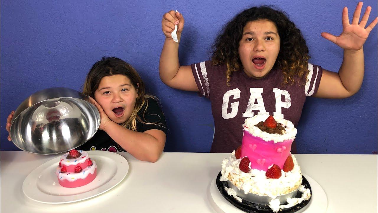 Squishy Versus Real Challenge : SQUISHY FOOD VS REAL FOOD CHALLENGE 2!! - YouTube