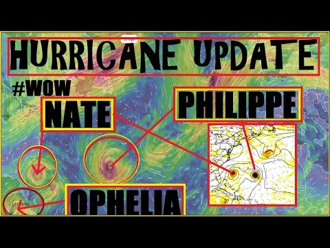 HURRICANE Update! #NATE #OPHELIA #PHILIPPE ALL Shown In Next 10 Days!?