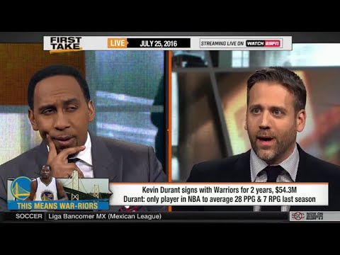 Stephen A. Smith Vs. Max Kellerman On Kevin Durant's Warriors Move!