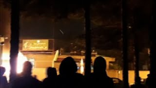 Raw: Protest Outside Basij Military Base In Iran