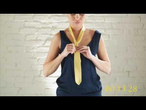 flouzen le noeud de cravate en 15 secondes par une femme youtube. Black Bedroom Furniture Sets. Home Design Ideas
