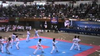 exhibicion completa de tae kwon do por kukkiwon en juan de la barrera