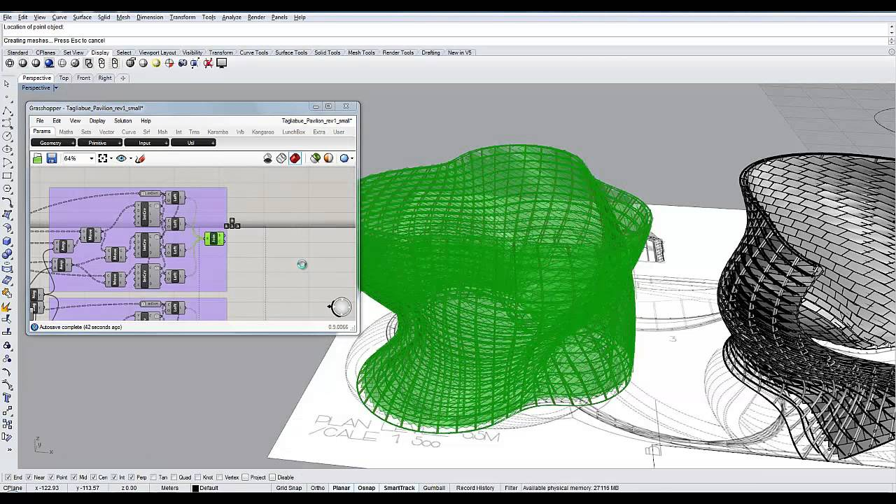 Grasshopper3d speed modeling generative architectural for Easy architectural software
