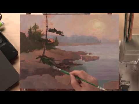 Preview   Landscape Acrylic Painting: Foggy Coastline with Johannes Vloothuis