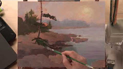 Preview | Landscape Acrylic Painting: Foggy Coastline with Johannes Vloothuis