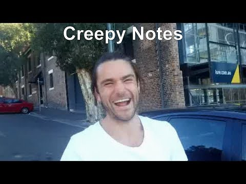 Giving People Creepy Notes Prank