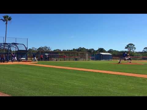 Mets Noah Syndergaard throws live BP